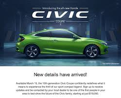 future honda civic 2016 honda civic coupe release coming march 15th 19 050 2016