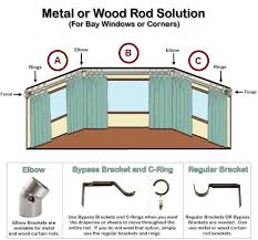 Corner Curtain Bracket Where To Place Curtain Rod Brackets Installing Wrought Iron
