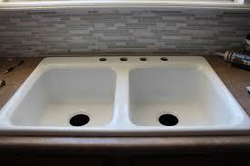 how to caulk a sink backsplash kitchen good kitchen decoration design with rectangular white