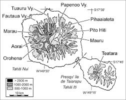 Map Of Tahiti The Mecyclothorax Beetles Coleoptera Carabidae Moriomorphini
