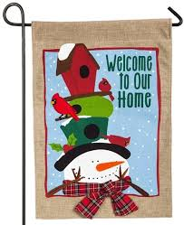 burlap welcome to our home decorative garden flag for sale