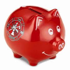 keepsake piggy bank and rescue piggy bank keepsake gift firefighter