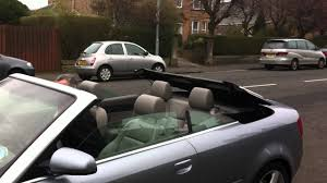 audi a4 convertible roof operating youtube