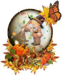 thanksgiving snow globe pilgrim children animated gif 9025