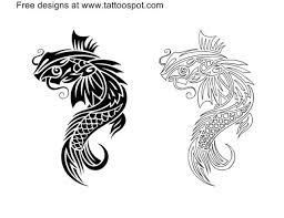 black ink beautiful tribal koi fish designs truetattoos