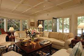 an attractive living room with stunning transitional furniture