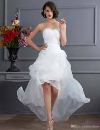 cheap casual wedding dresses 2017 summer high low casual wedding dresses strapless beaded