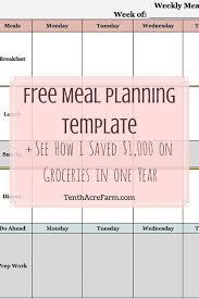 best 25 meal planning templates ideas on pinterest weekly menu