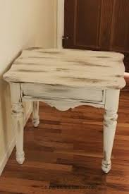 White Distressed Wood Coffee Table Distressed End Table Foter