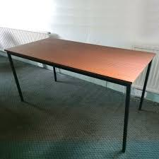 Mahogany Office Desk Metal Rectangular Office Desk Or Printer Table With Mahogany Top