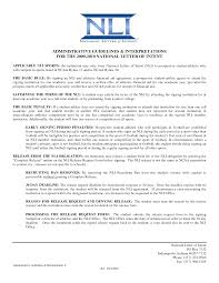 College National Letter Of Intent Most Common Questions From National Signing Day What Is An Loi