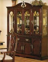 China Cabinet Buffet Hutch by China Cabinet Buffet Hutch In Brown Cherry Finish Acme Furniture