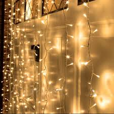Christmas Decoration Lights Amazon Com Kohree 300 Led Curtain Icicle Lights Remote Curtain