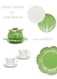 tory burch dinnerware dodie thayer lettuce ware simply elegant