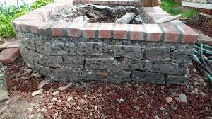 Patio Stone Flooring Ideas by Homemade Raised Garden Bed Made With Pieces Of A Cut Cement Patio