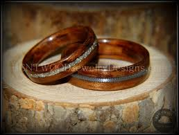 glass wedding rings bentwood bubinga wood wedding rings glass inlay guitar string