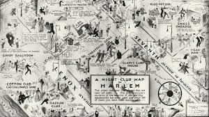 Map Of The Stars Vintage Night Club Map Of Harlem Shows The Hottest Nightspots In