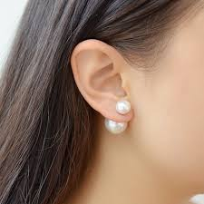 two sided earrings sided earring how to make sided pearl earrings the
