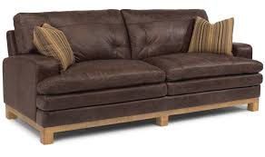 Leather Sleeper Sofa Dark Brown Faux Leather Reclining Sleeper Sofa Combined With