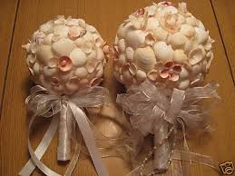 wedding bouquets with seashells unique handmade seashell bridesmaid wedding bouquet ebay