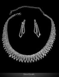 crystal choker necklace set images Docia elegant rhinestone choker necklace set crystal beloved jpg
