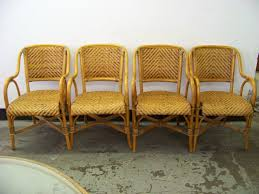 Yellow Bistro Chairs Furniture Traditional Yellow Rattan Chair