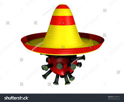 cartoon sombrero 3d cartoon influenza virus sombrero stock illustration 29568145