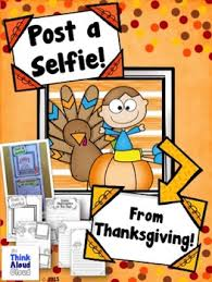 after thanksgiving writing activity post a selfie craftivity