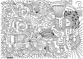 doodle art doodling 1 coloring pages printable