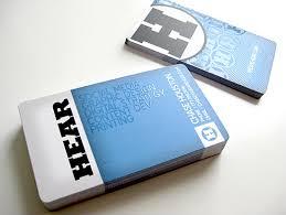 cool custom business cards hear cardrabbit