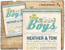frog baby shower invitations boy baby shower invitation frogs snails puppy dog tails baby