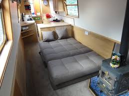 Sofa Bed Pocket Sprung Mattress by Hampton Sofa Bed Laid Out As A Bed Length Ways On A Narrowboat