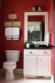 bathroom chic red bathrooms decorating ideas bathroom cabinet