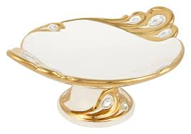 aura diwali gift box ideas gold and pearl bone china decorative