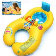 siege bebe gonflable gonflable pvc bouée natation jouet bébé mère avec siège jaune pour