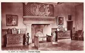 chambre d h e azay le rideau azay le rideau chambre royale postcard