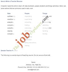 Resume Sample For Teacher Assistant by Job Teaching Job Resume