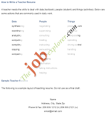 Resume Sample Teacher Assistant by Job Teaching Job Resume