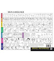 sign language ready reference learning cards grade pk 12 carson