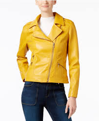 yellow motorcycle jacket inc international concepts faux leather moto jacket only at