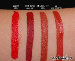Lipstik Ofra review cosmetics matte liquid lipsticks lip liners true