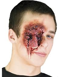 latex for halloween makeup eye scream wound latex wound latex application special makeup