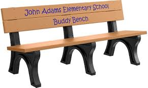 Recycled Plastic Benches For Schools Recycled Plastic Portable Buddy Bench Barco Products