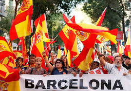 thousands rally in barcelona against catalan independence wsj
