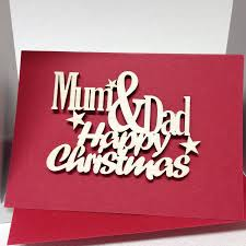 mum and dad happy christmas card by hickory dickory designs