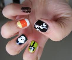 cute halloween nails twinkle tips a nail polish and konad stamping blog halloween