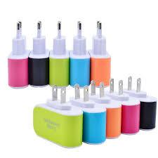 best us eu plug 3 usb wall chargers 5v 3 1a led adapter travel