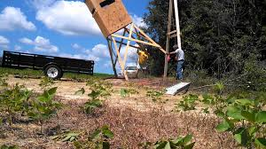 how to raise a box deer tower stand easily u0026 relatively safely