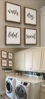 Laundry Room Wall Decor Laundry Room Sign Laundry Sign Wash Fold Repeat Sign