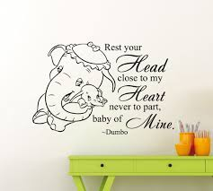 ditooms elephant quote wall decal vinyl sticker animal home kids ditooms elephant quote wall decal vinyl sticker animal home kids girl boy nursery room interior art decor removable mural